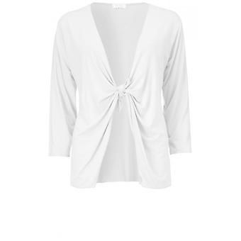 Masai Clothing Itally White Jersey Cardigan