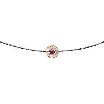 Choker Duchess Ruby 18K Goud en Diamanten, op Thread - Rose Gold, London Grey