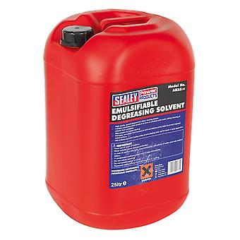 Sealey Ak25 Degreasing Solvent Emulsifiable 1 X 25Ltr