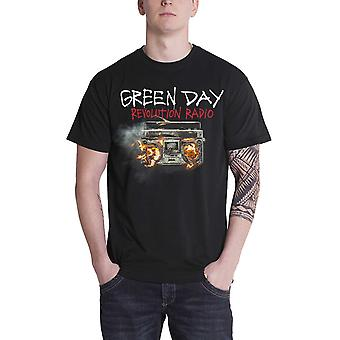 Green Day T Shirt Revolution Radio Album Cover band logo Official Mens Black