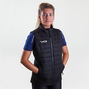 VX-3 Womens Pro Track Top Sleeveless Vest High Neck Front Zip