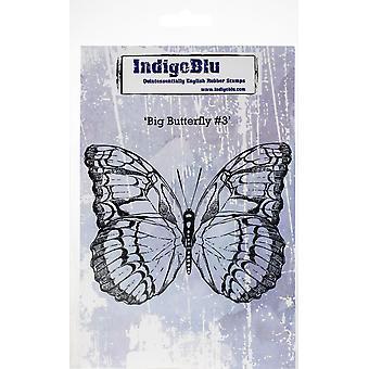 IndigoBlu Big Butterfly #3 tampon en caoutchouc A6