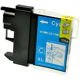 RudyTwos Replacement for Brother LC-980C Ink Cartridge Cyan Compatible with DCP-377CW, DCP-383C, DCP-385C, DCP-387C, DCP-395CN, DCP-585CW, DCP-6690CW, DCP-J715W,