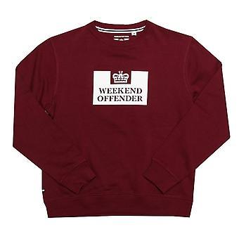 Boy's Weekend Offender Junior Penitentiary Crew Sweatshirt in Red