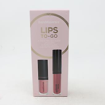 Bareminerals Lips To-Go 2-Piece Mini Gen Nude Lipcolor / Nouveau avec boîte