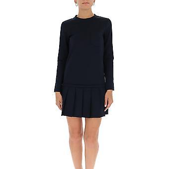 Thom Browne Fjd064a06840415 Women's Black Cotton Dress