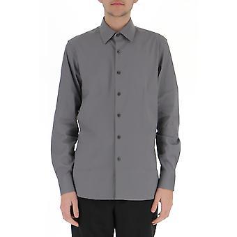 Prada Ucm608f62f0d65 Männer's grau Baumwollhemd