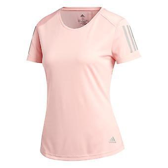 أديداس تملك تشغيل النساء تشغيل اللياقة البدنية التدريب تي شيرت تي الوردي
