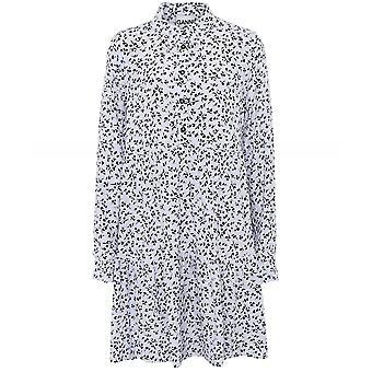 Ganni Printed Crepe Layer Dress