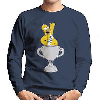 A camisola dos Simpsons número 1 para homem do pai