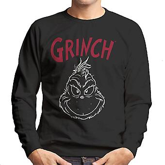 The Grinch Face Silhouette Men's Sweatshirt