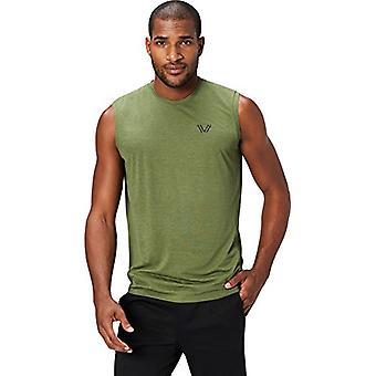 Peak Velocity Men's VXE Sleeveless Quick-dry Multiple-Fit T-Shirt, Stealth Green Heather, XXX-Large