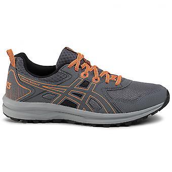 Asics Trail Scout Mens Trail Running Trainer Shoe Grey/Orange