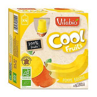 Gourde Cool Fruits Pomme Banane BIO 4 unités de 90g
