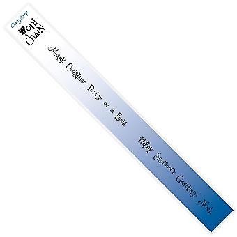 Claritystamp 13 & 14 Joyeux Noël & Season-apos;s Greetings Mini Word Chains