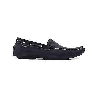 Loake Donington Navy Suede Leather Mens Driving Shoes