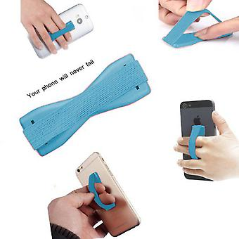 (Baby Blue) HTC Desire 620G Dual sim Anti-Slip Elastic Finger Mobile Phone Grip Holder