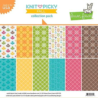Lawn Fawn Knit Picky Fall 12x12 Inch Collection Pack