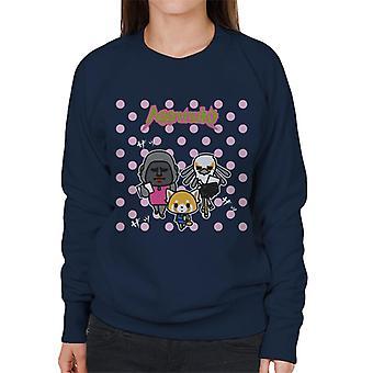 Aggretsuko Gori Washimi Retsuko Pink Polka Dots Women's Sweatshirt