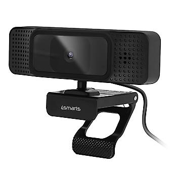 Full HD 1080p / 30fps webcam with 130 ° 4Smarts wide-angle stereo - black