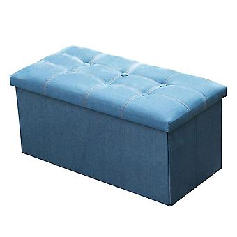 YANGFAN Denim Stoff Lagerung Fuß Rest Hocker