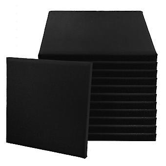 12pcs 25MM Sound Acoustic Diffuseur Panel 30*30cm Noir