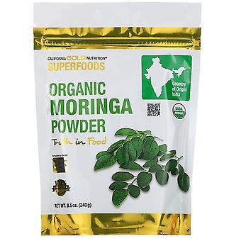 California Gold Nutrition, Superfoods, Organic Moringa Powder, 8.5 oz (240 g)