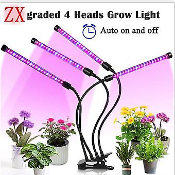 Grow Lights Led Grow Light For Indoor Plants Clips Upgraded Version Grow Light Three Heads Grow Plant Lights Grow Lamp 30w With Timer 5 Dimmable Modes