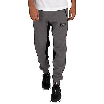 EA7 Emporio Armani Contrast Panel Pant Joggers - Dark Grey Mel-L