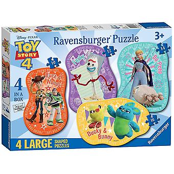 Ravensburger Toy Story 4, 4 Large Shaped Jigsaw Puzzles