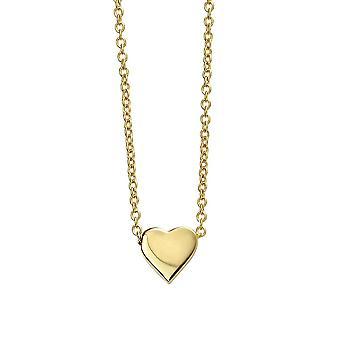 Начало Стерлинговое серебро Позолоченное ожерелье с одним сердцем N4379