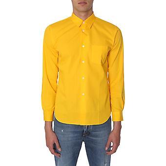 Comme Des Garçons Shirt S279065 Men's Yellow Cotton Shirt