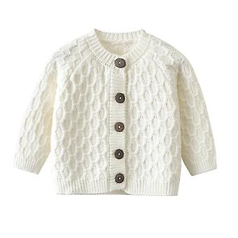 Spring Baby Knitted Sweater Tops- Cotton Warm Autumn Kids Diamon Cardigan Tops,