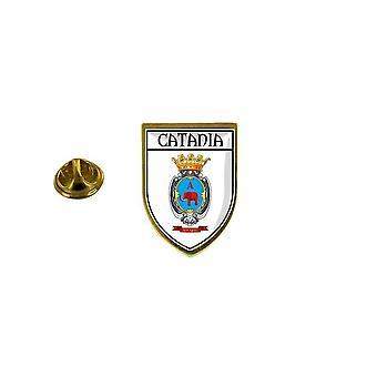 pins pin badge pin's souvenir ville drapeau pays blason catane catania italie