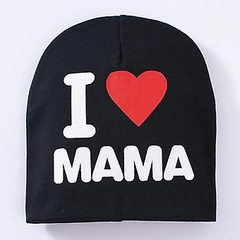 Newborn Baby Boys And Girls  Cotton Love Mama Print Hat Caps