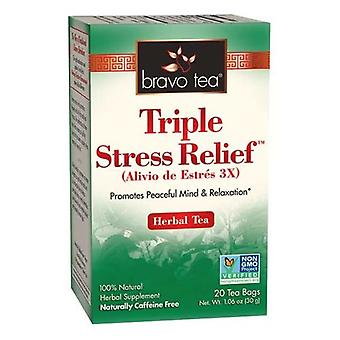 Bravo Tea & Herbs Triple Stress Relief Tea, 20 bags