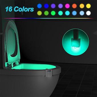 16/8 Kleur achtergrondverlichting voor bowl wc wc-bril- verlichting met bewegingssensor, Smart