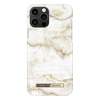 iDeal von Schweden iPhone 12 / iPhone 12 Pro Shell - goldene Perle Marmor