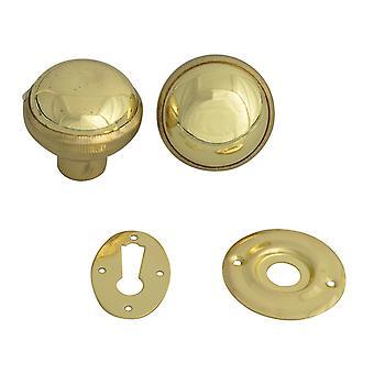 Yale Locks P405 Rim Knob Polished Brass Finish YALP405PB