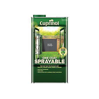 Cuprinol One Coat Sprayable Fence Treatment Silver Copse 5 litre 5355975