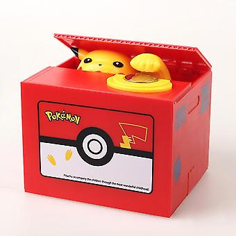 Pokemon, Pikachue Electronic Plastic Money Box Steal Coin, Piggy Bank Safe