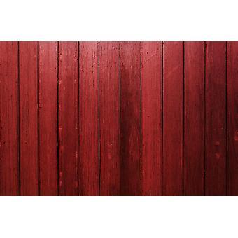Vægmaleri Mørk rød trævæg