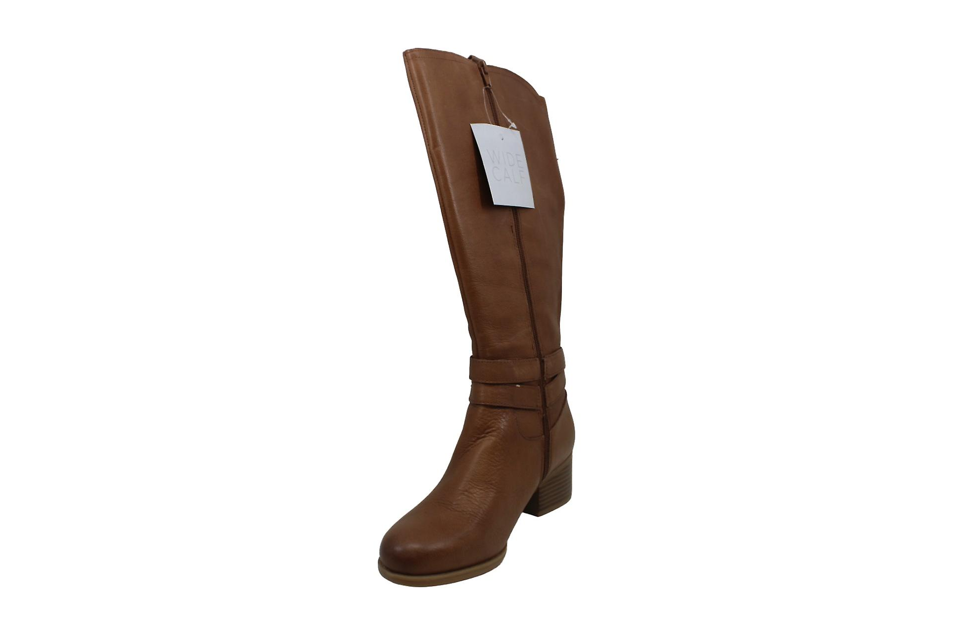 Naturalizer Womens Kim Leather Almond Toe Knee High Fashion Boots