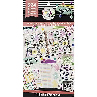 Happy Planner klistermärke värde Pack-Highlights lådor, 924/pkg