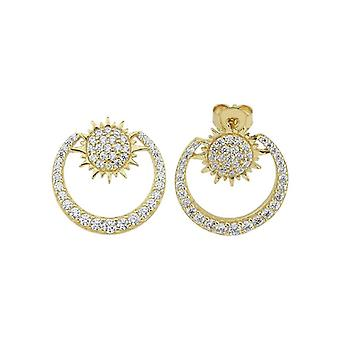 Mihrimah Moon and Sun Gold Earring