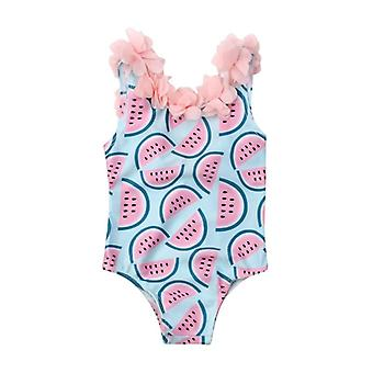 Baby Watermelon Swimsuit, 1 Piece Floral Swimwear Swimming Cute Bikini