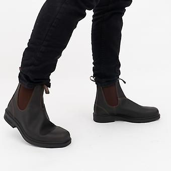 Blundstone 062 Unisex Leather Chelsea Boots Stout Brown