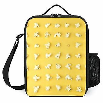 I chicchi di popcorn aggiungono borse per il pranzo stampate