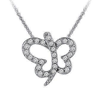 0,75 Karátový motýľ Diamond prívesok