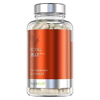 Royal Jelly Capsules - Natural Supplement 750mg - Natural Immunity & Weight Managment Tablets - Helps Mediate Glucose & Cholesterol Levels - x60